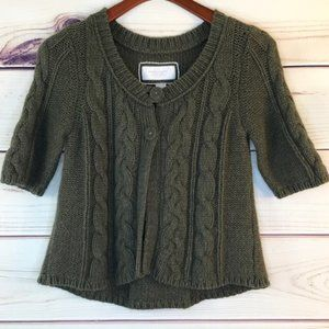 American Eagle Olive Green Cardigan Sweater